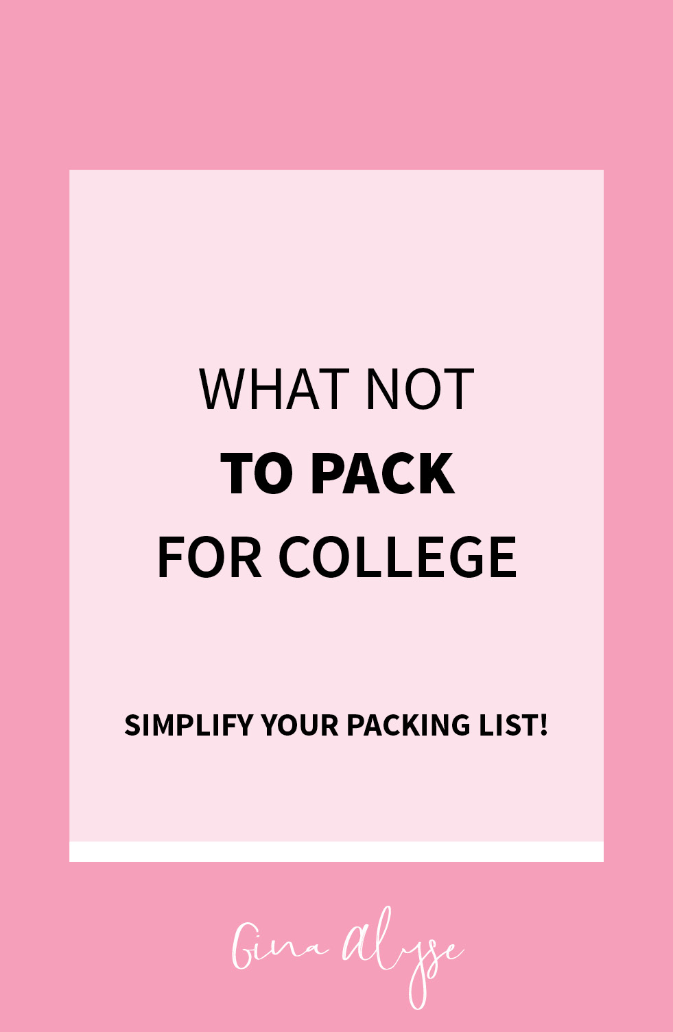 What NOT to Pack for College