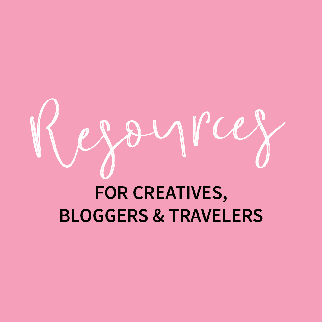 Resources for Creatives, Bloggers & Travelers