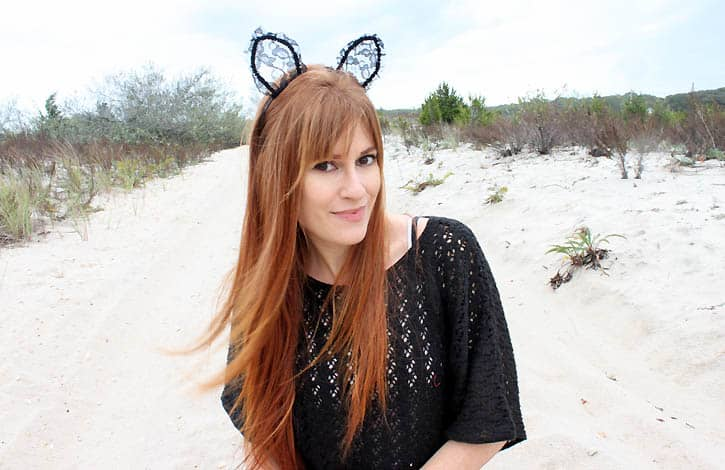 DIY Lace Halloween Cat Ears