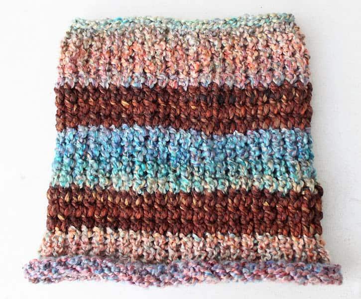 Diy Fast Easy Stripe Cowl Knitting Pattern Gina Michele