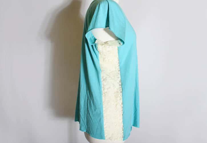 Diy Lace Insert T Shirt Gina Michele