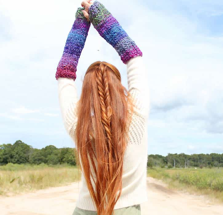 Ribbed Arm Warmers Knitting Pattern Gina Michele