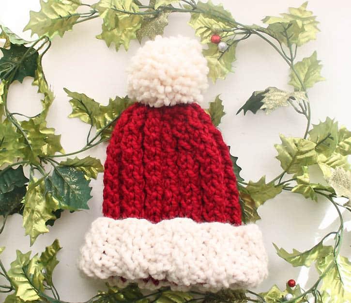 Holly Jolly Hat Knitting Pattern Gina Michele