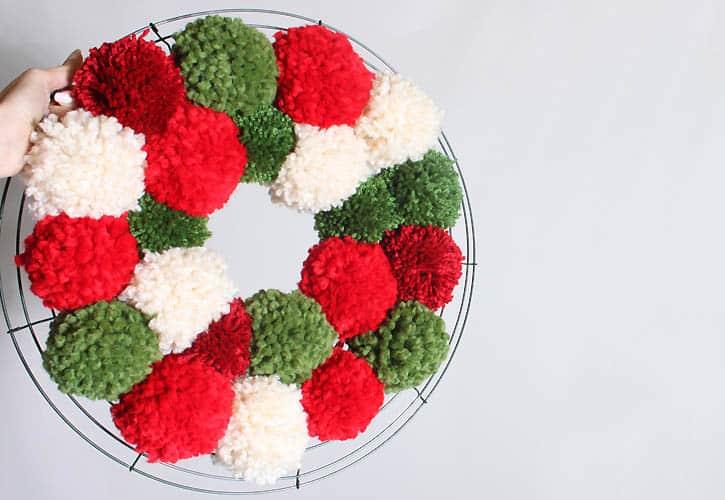 DIY Pom Pom Wreath- Inspired by Anthropologie