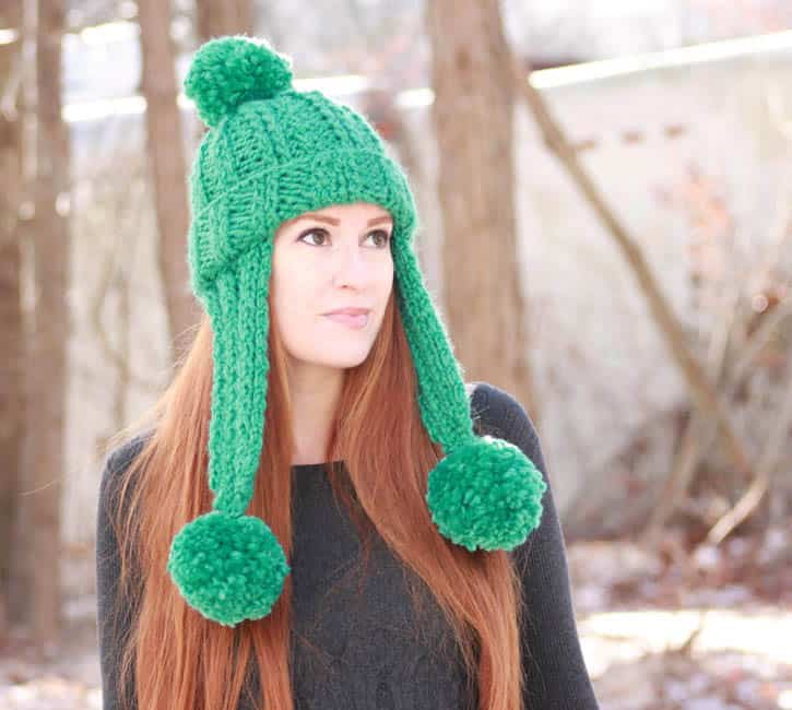 Trifecta Ear Flap Hat [knitting pattern] - Gina Michele