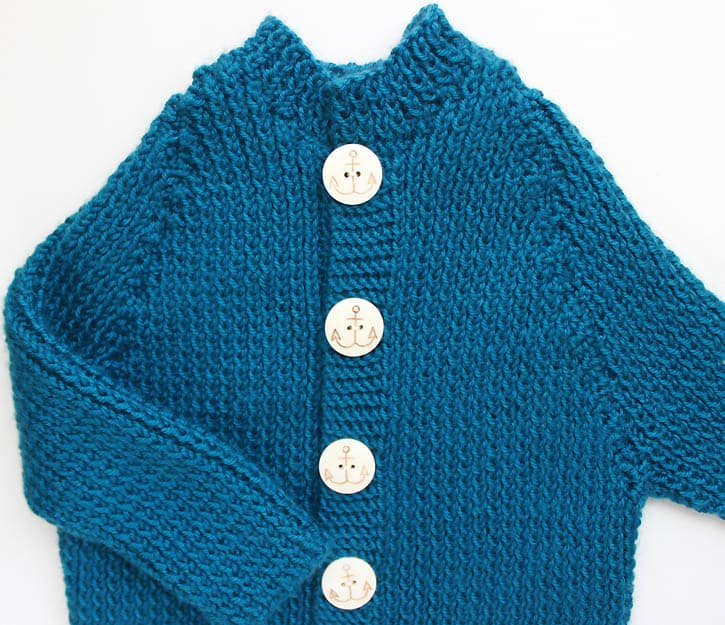 Ribbed Baby Cardigan [knitting Pattern]