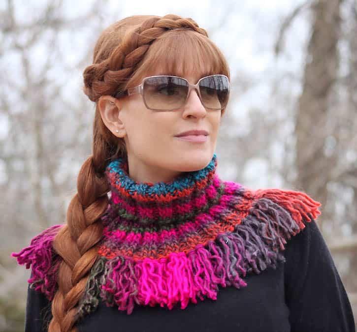 Tassel Cowl [knitting pattern] - Gina Michele