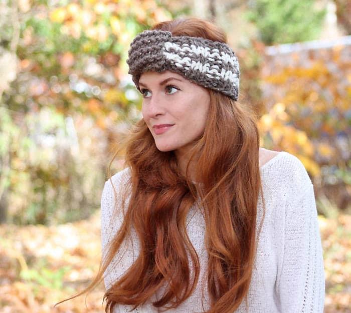 Easy Stripe Headband Knitting Pattern Gina Michele