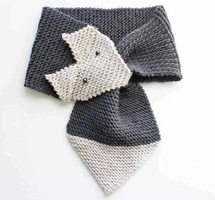 Fox Scarf Knitting Pattern by Gina Michele