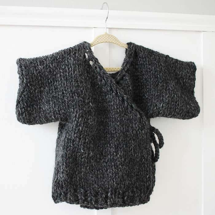 Thick and Quick Toddler Kimono Sweater Beginner Knitting Pattern