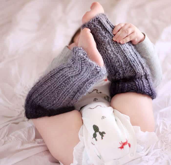 Baby Ombré Leg Warmers Knitting Pattern