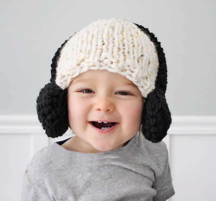Baby Headphone Hat [knitting pattern]