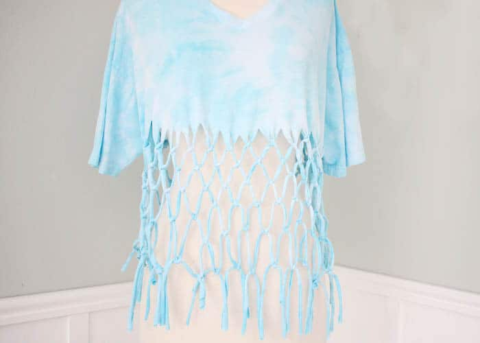 DIY Macrame T Shirt (no sew!)
