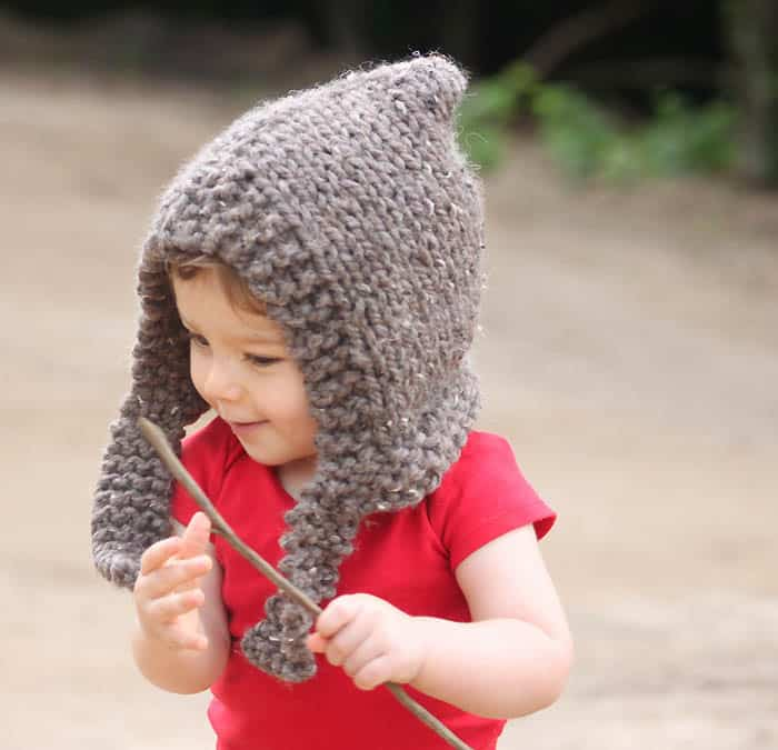 Child Woodland Hood [knitting pattern]