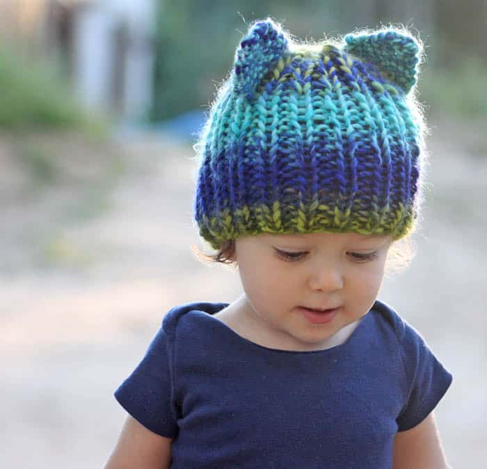 Toddler Bear Hat [knitting pattern]