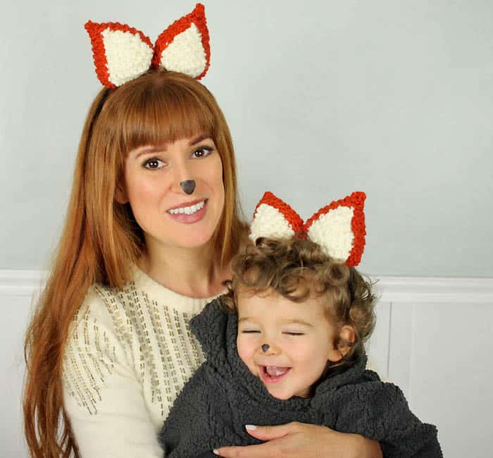 Halloween Fox Ears [knitting pattern]
