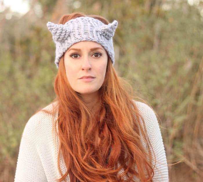 Eugenia Kim Cat Headband Free Knitting Pattern