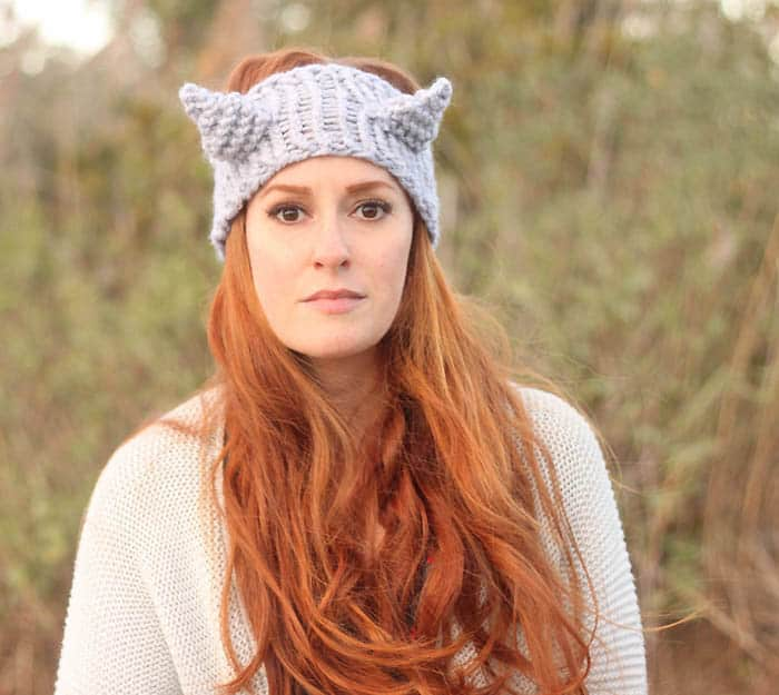 Eugenia Kim Cat Headband Free Knitting Pattern