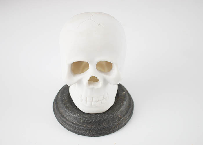 DIY Skull Candle Holder