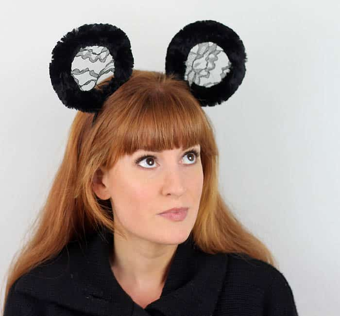 DIY Halloween Panda or Mouse Ears