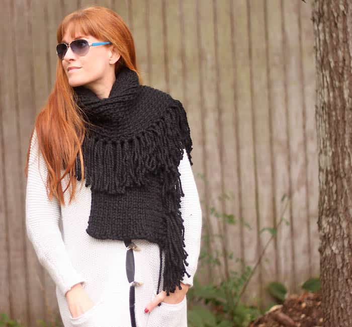 Fringe Scarf Knitting Pattern- Inspired by Rag & Bone
