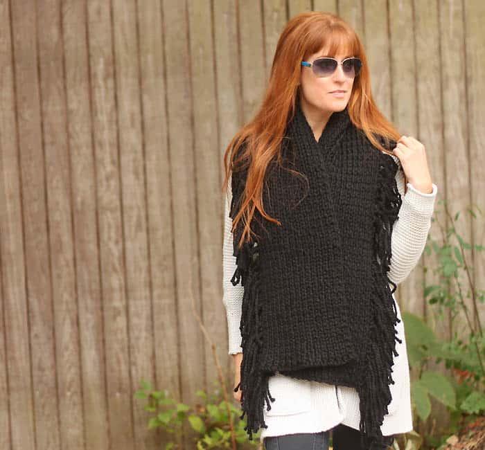 Fringe Scarf Knitting Pattern- Inspired by Rag & Bone