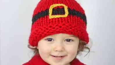 Christmas Knitting Patterns For Babies.Santa Hat Knitting Pattern Gina Michele