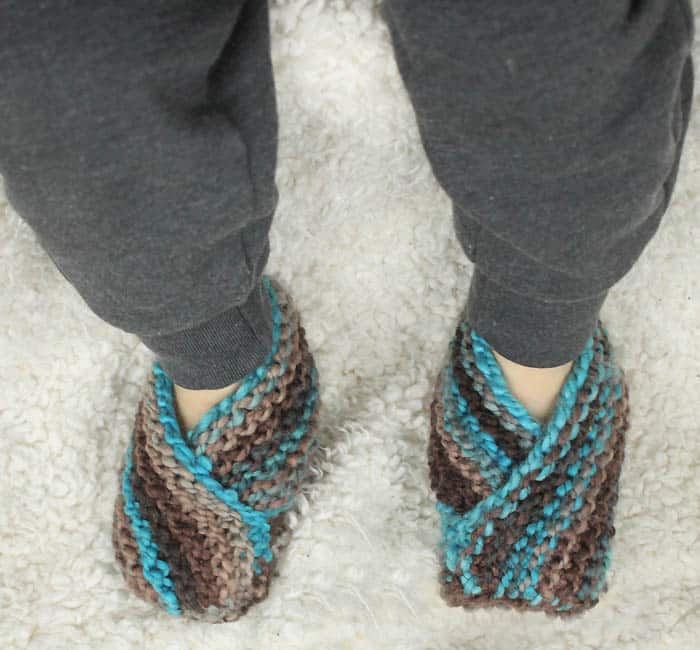 Easiest Toddler Slippers Ever Free Knitting Pattern