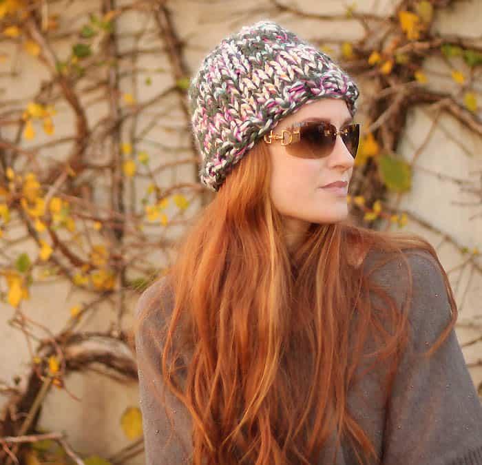Triple Knit Hat the Warmest Hat Ever free knitting pattern