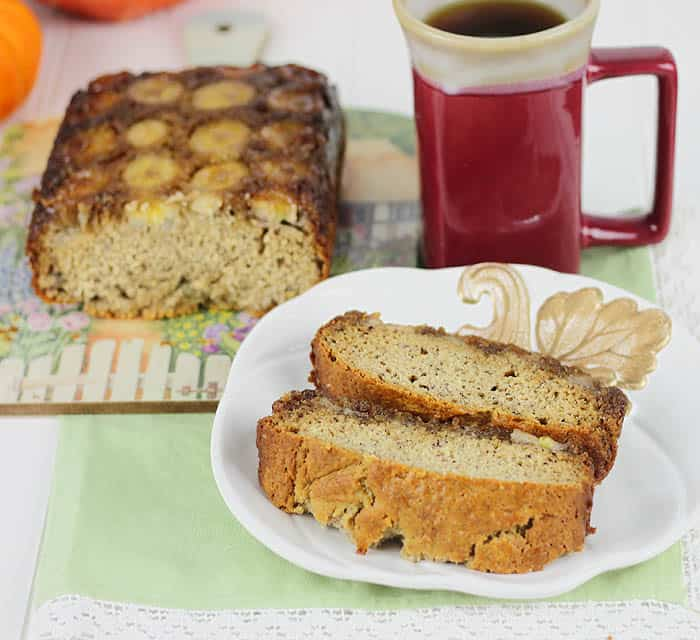 Upside Down Banana Bread recipe