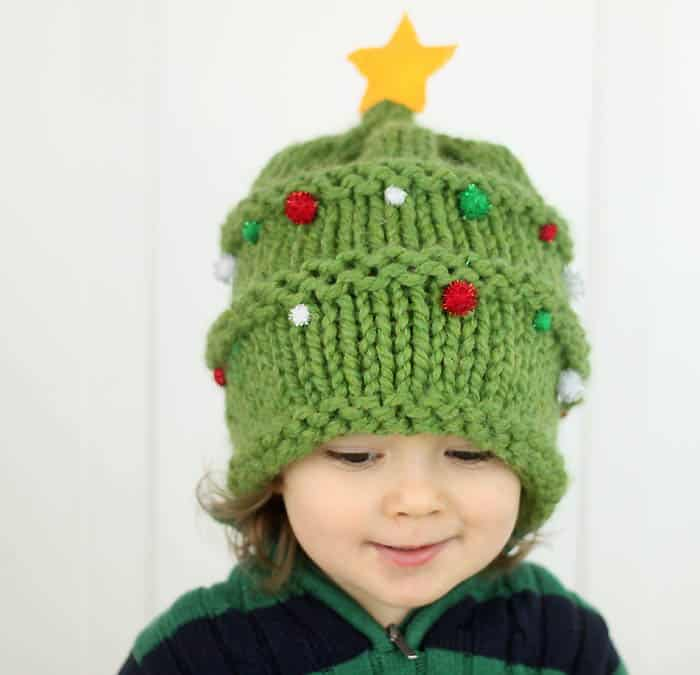 Christmas Knitting Patterns For Babies.Baby Christmas Tree Hat Knitting Pattern Gina Michele