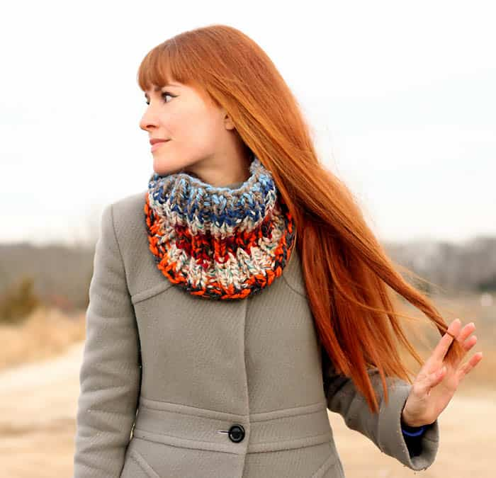 Stash Busting Cowl Knitting Pattern Gina Michele