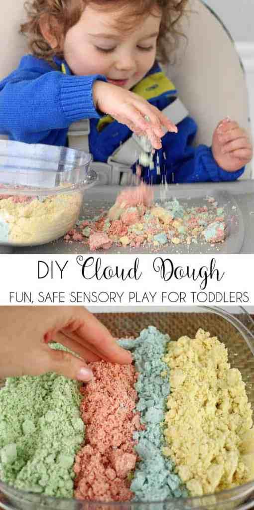 Cloud Dough DIY- the Perfect way to Beat Winter Boredom!