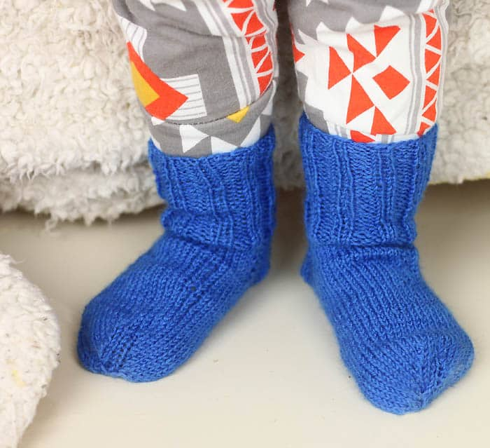Ribbed Toddler Socks Knitting Pattern - Gina Michele