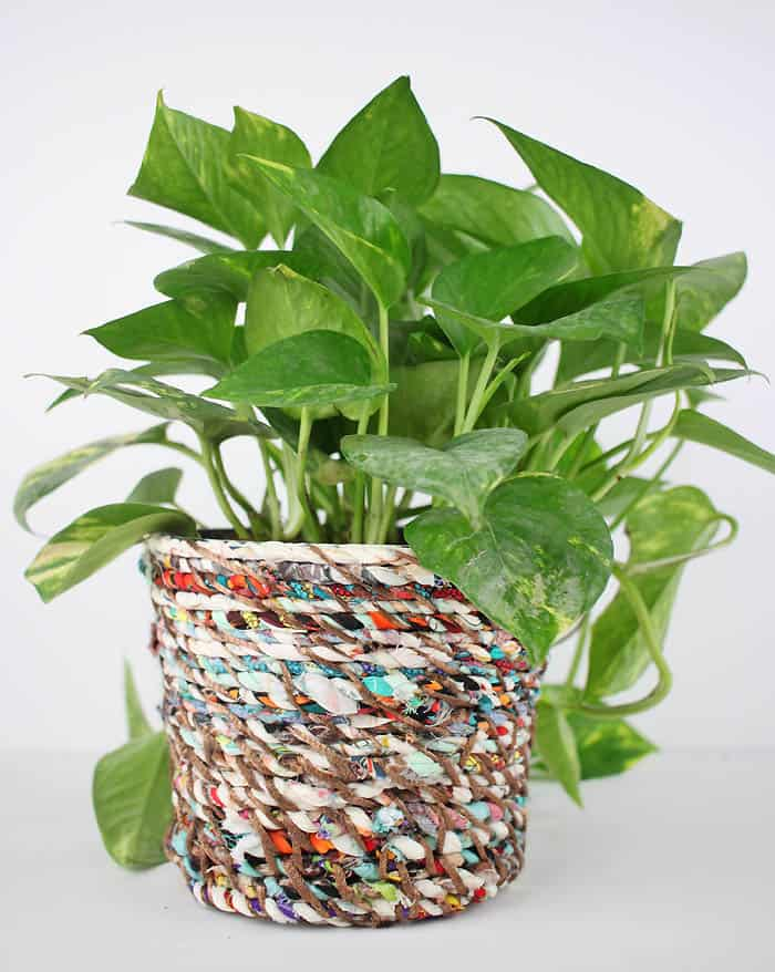 Fabric Twine Flower Pot DIY