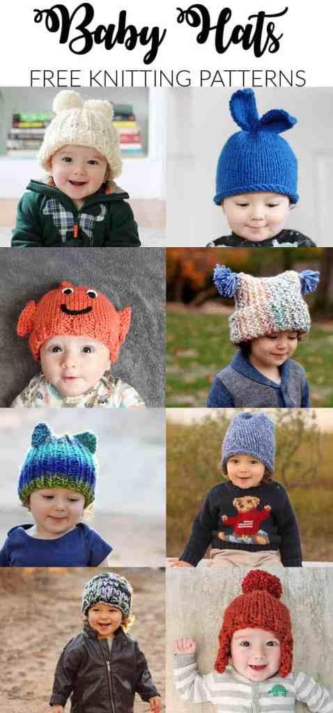 Free Baby Hat Knitting Patterns - Gina Michele 8023d34a2b06