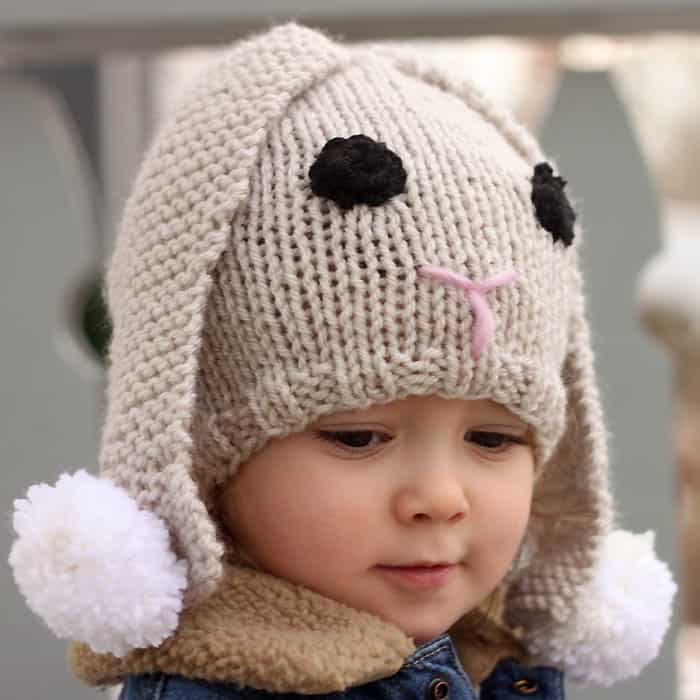 Bunny Baby Hat Knitting Pattern Gina Michele
