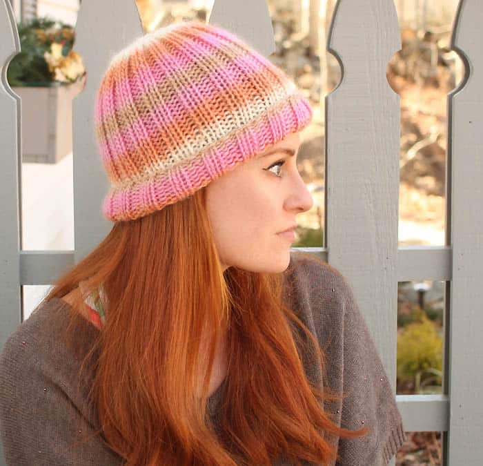 Classic Ribbed Hat Free Knitting Pattern