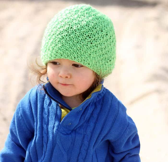 Irish Moss Hat Free Knitting Pattern