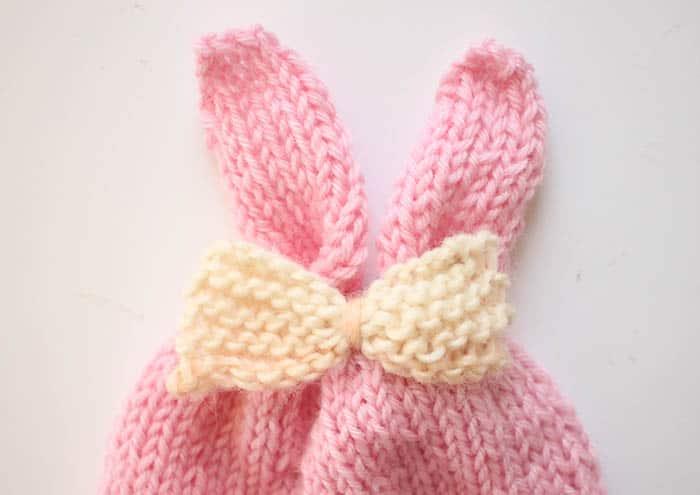 Knitting Pattern Rabbit Hat : Baby girl bunny ear hat knitting pattern gina michele