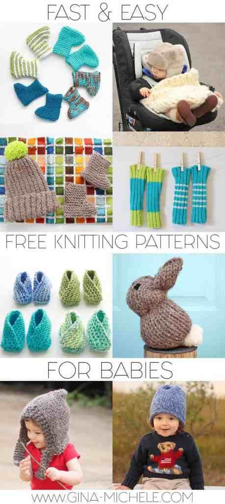 Fast & Easy Free Knitting Patterns for Babies