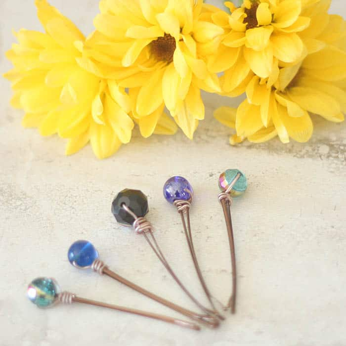 Wire Wrapped Beaded Hair Pins DIY