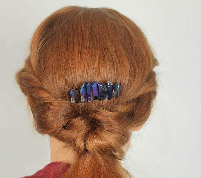2 Minute Spiked Crystal Hair Comb DIY