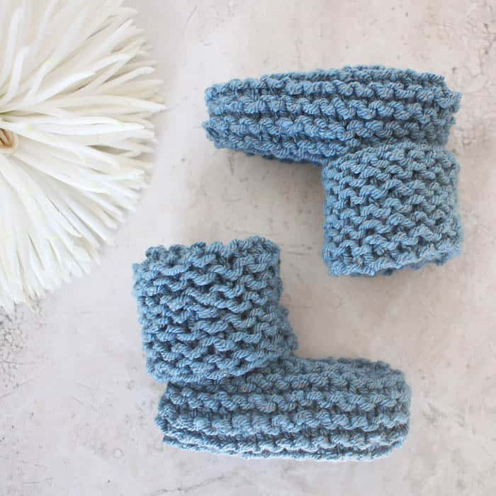easy baby booties knitting pattern free