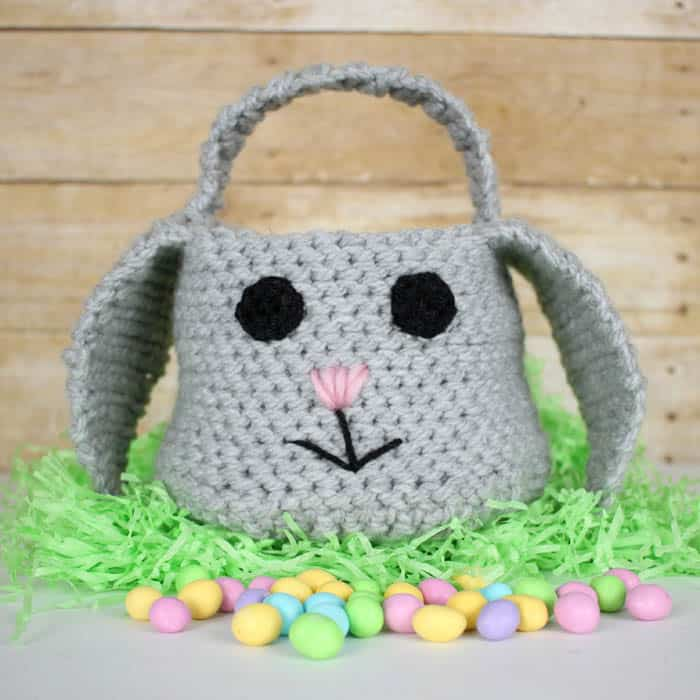 Easter Bunny Basket Crochet Pattern Gina Michele