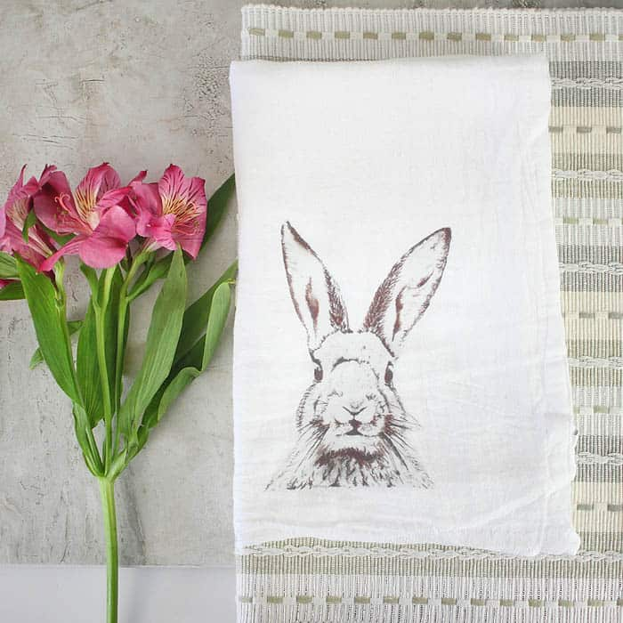 Fabric Transfer Tea Towels DIY by Gina Michele