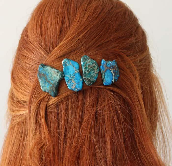 2 Minute Jasper Hair Pins DIY