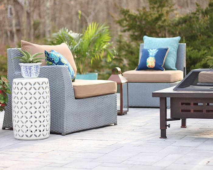 How to makeover a patio on a budget with Lowe's