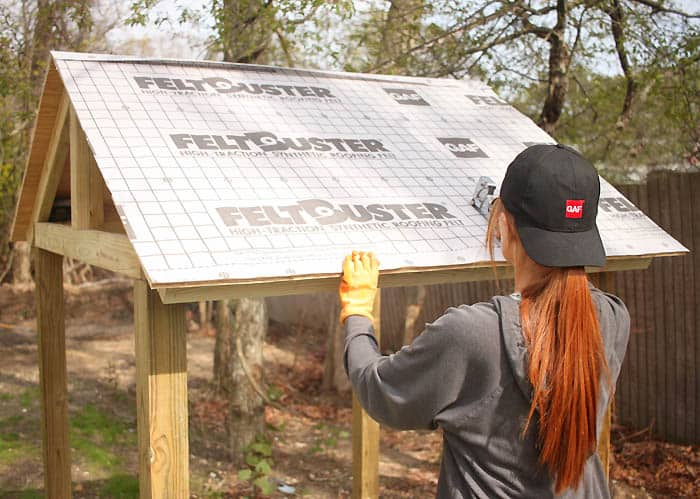 How to Shingle a Playhouse or Shed Roof