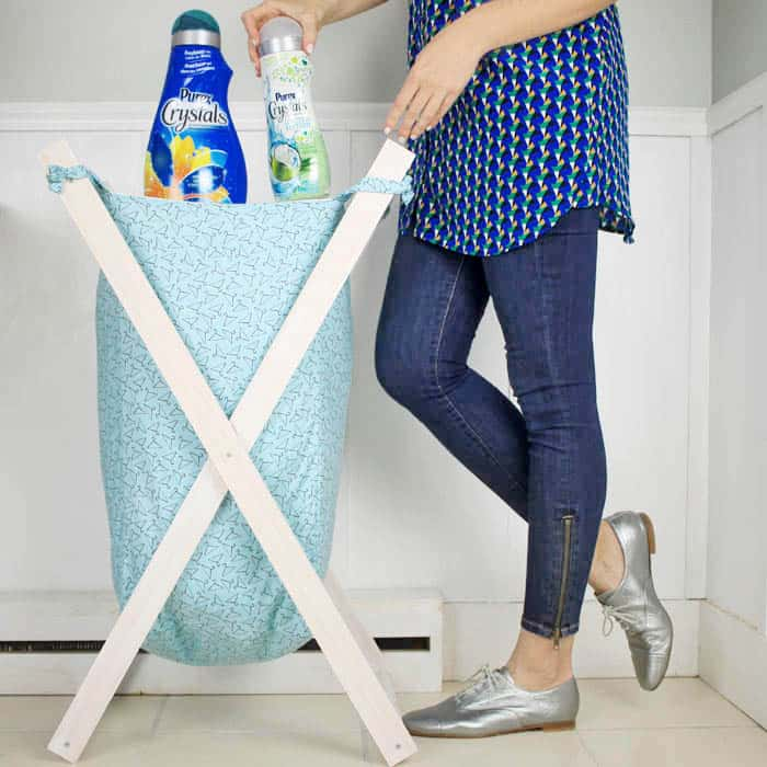 Foldable Wood Laundry Hamper DIY